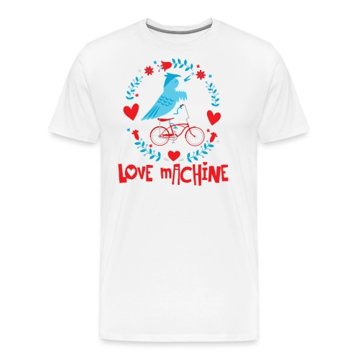 Cute Love Machine Bird - Men's Premium T-Shirt