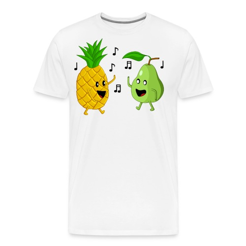 Dancing Pineapple and Pear - Men's Premium T-Shirt