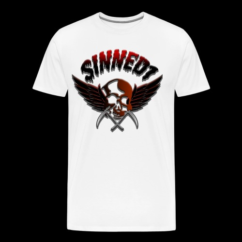 Sinned1 Dripping Text - Men's Premium T-Shirt