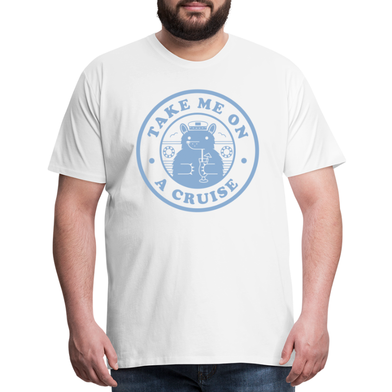Bear Light Blue Cruise - Men's Premium T-Shirt