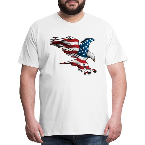 Patriotic American Eagle - Men's Premium T-Shirt
