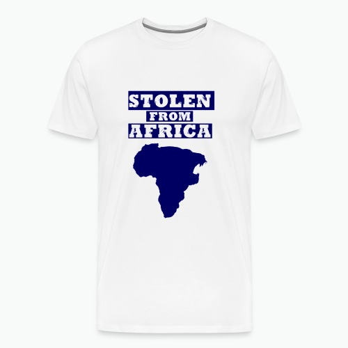 STOLEN FROM AFRICA BLUE - Men's Premium T-Shirt