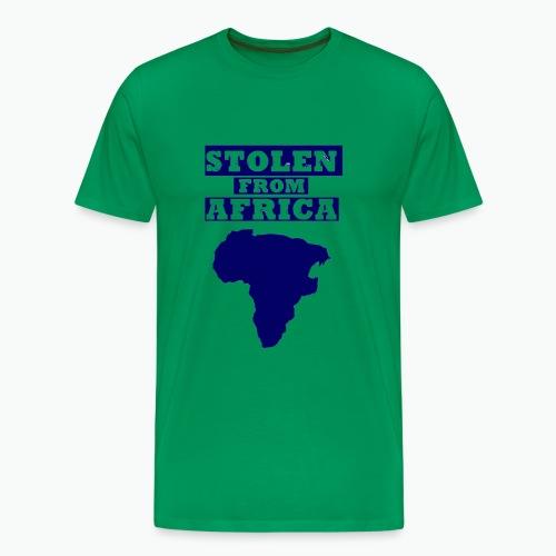 STOLEN FROM AFRICA BLUE - Men's Premium T-Shirt