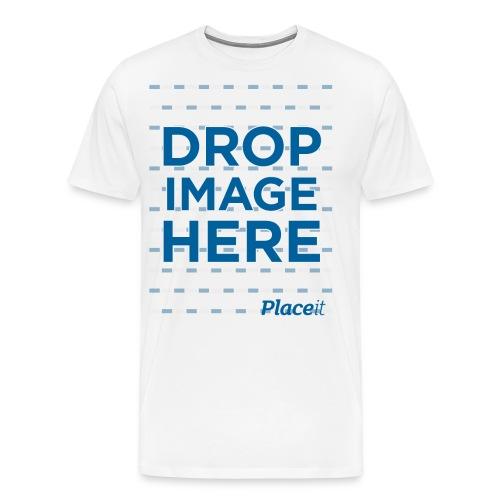 DROP IMAGE HERE - Placeit Design - Men's Premium T-Shirt