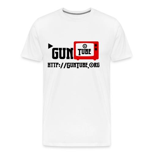 GunTube Shirt with URL - Men's Premium T-Shirt