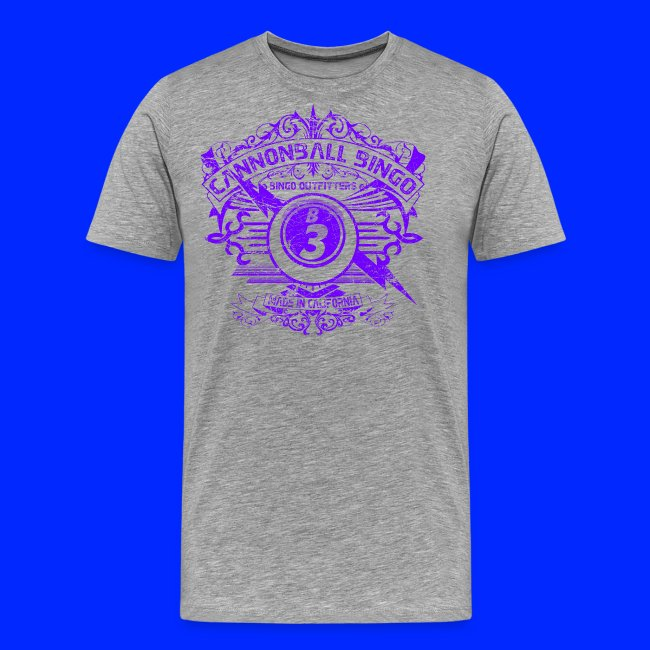 Vintage Cannonball Bingo Crest Purple
