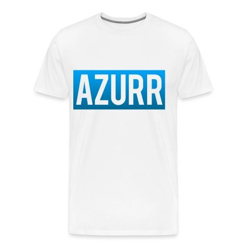 Azurr First Shirt Design - Men's Premium T-Shirt
