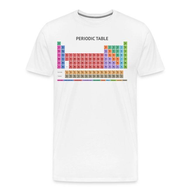 Periodic Table T-shirt (Light)