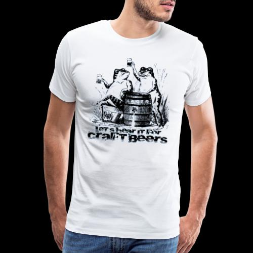Craft Beer Frogs - Men's Premium T-Shirt