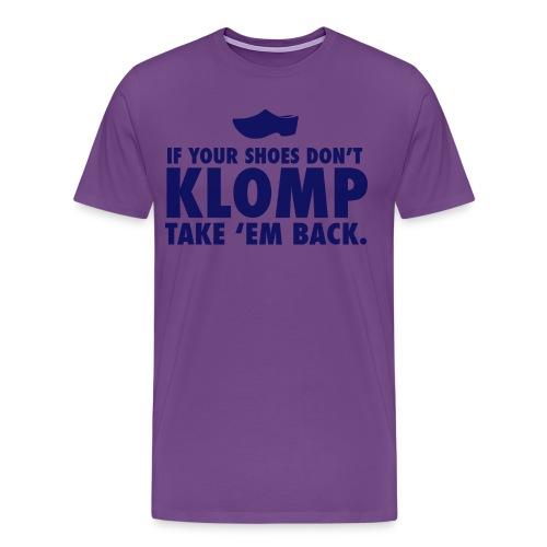 07 Klomp blue lettering - Men's Premium T-Shirt