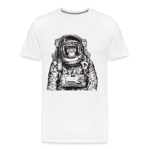 Monkey Astronaut - Men's Premium T-Shirt