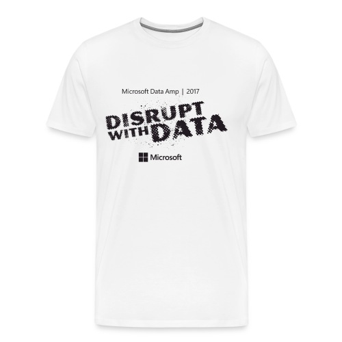 Disrupt with Data black on grey - Men's Premium T-Shirt