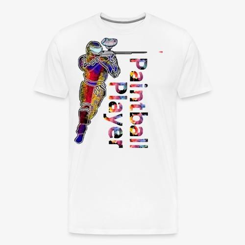 Paintball player - Men's Premium T-Shirt
