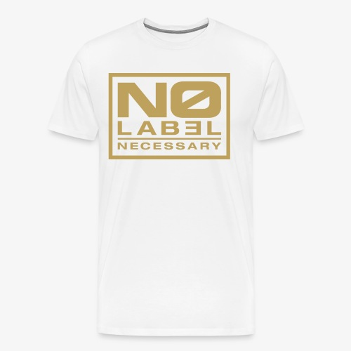 No Label Necessary Gold Logo - Men's Premium T-Shirt