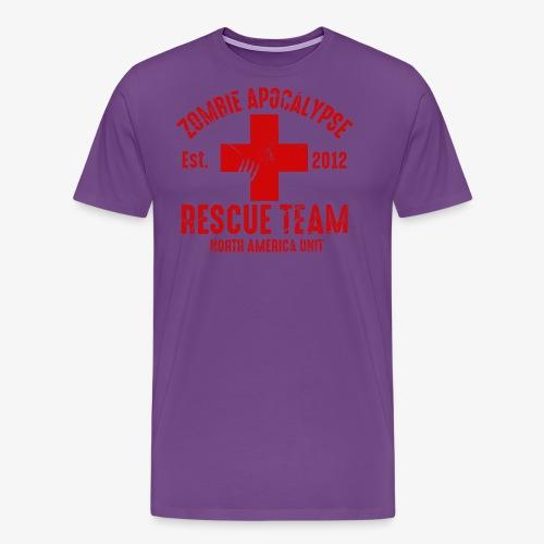 Zombie Rescue Halloween Shirt - Men's Premium T-Shirt