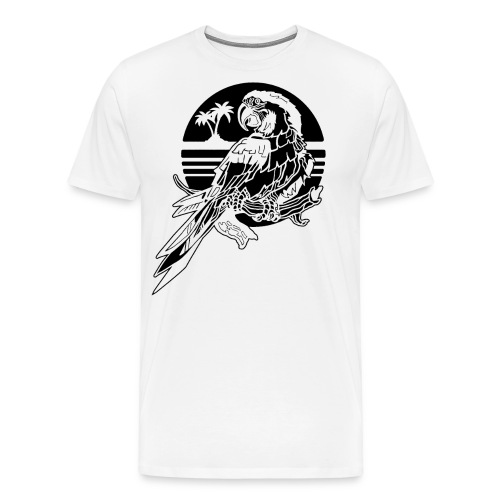 Tropical Parrot - Men's Premium T-Shirt