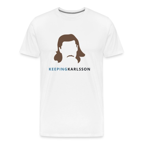 Keeping Karlsson Logo Transparent brown - Men's Premium T-Shirt