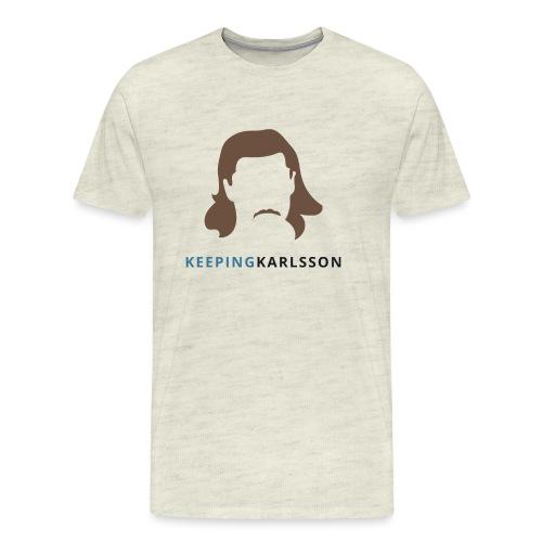 Keeping Karlsson Logo Transparent brown - Men's Premium T-Shirt