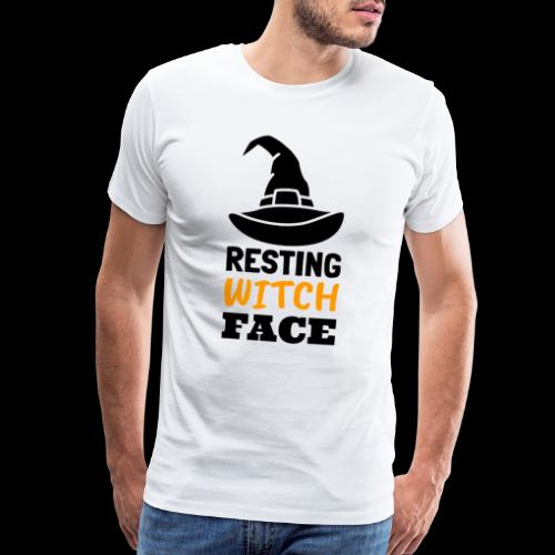 Resting Witch Face   Funny Halloween - Men's Premium T-Shirt