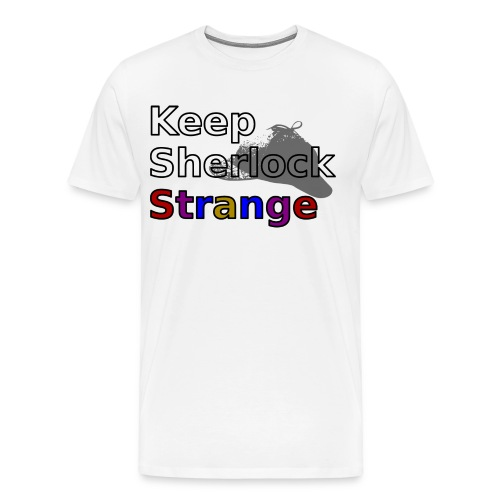 Keep Sherlock Strange - Men's Premium T-Shirt