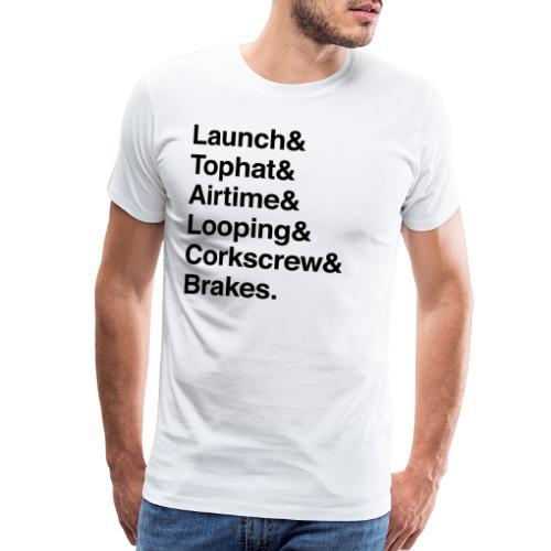 Rollercoaster Elements - Men's Premium T-Shirt