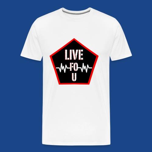LIVE FOR U LOGO png - Men's Premium T-Shirt