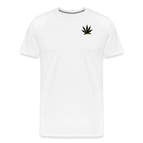 weed symbol drawing leaf - Men's Premium T-Shirt