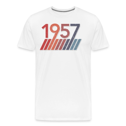 60 Birthday Gifts for Men and Women - 1957 Vintage - Men's Premium T-Shirt