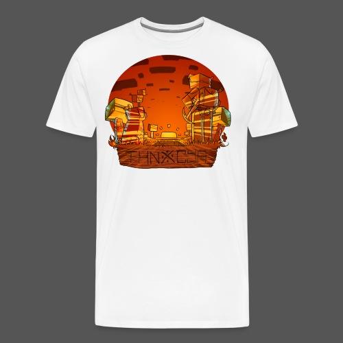 ThnxCya tshirt sunset design by Jonas Nacef png - Men's Premium T-Shirt