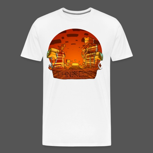 ThnxCya tshirt sunset design by Jonas Nacef png - Men's Premium T-Shirt