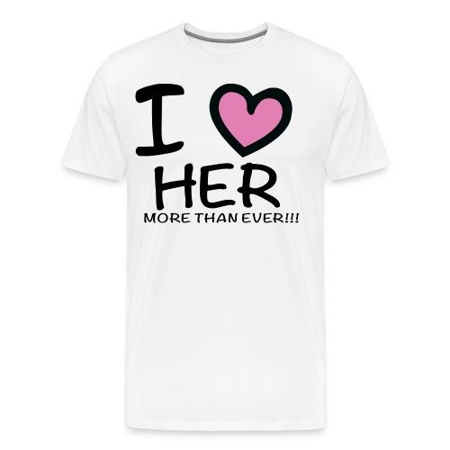 ILOVEHER - Men's Premium T-Shirt
