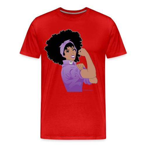 GlobalCouture WeCanDoItPurple Girl RGB png - Men's Premium T-Shirt