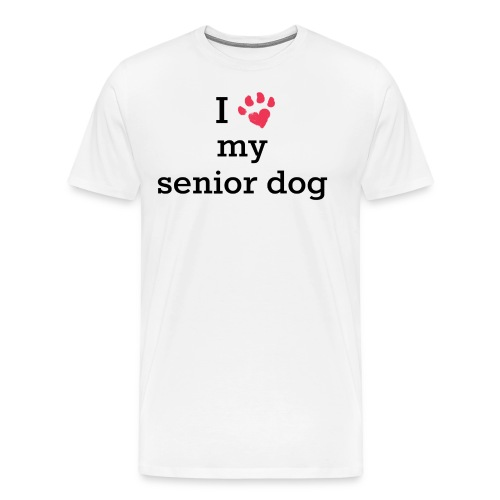 I love my senior dog - Men's Premium T-Shirt