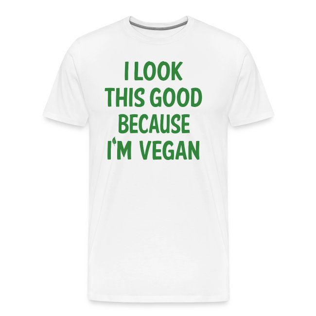 Greatvibes Funny Vegan Attitude Quote Vegetarian No Meat Mens