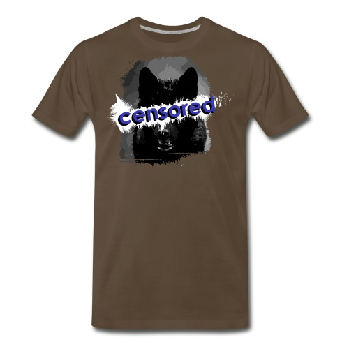 Wolf censored - Men's Premium T-Shirt