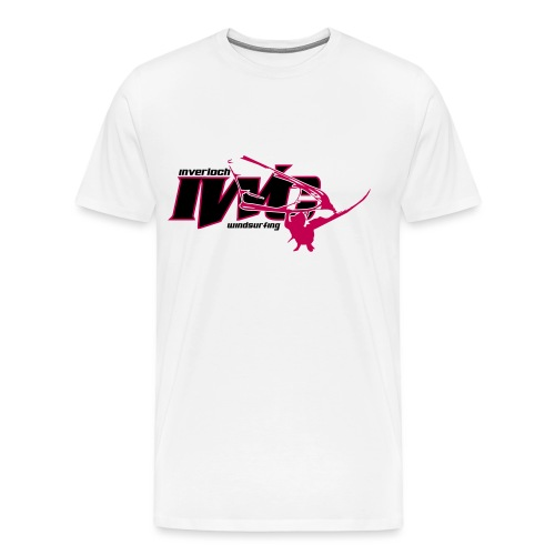 IWC Action logo white BG - Men's Premium T-Shirt