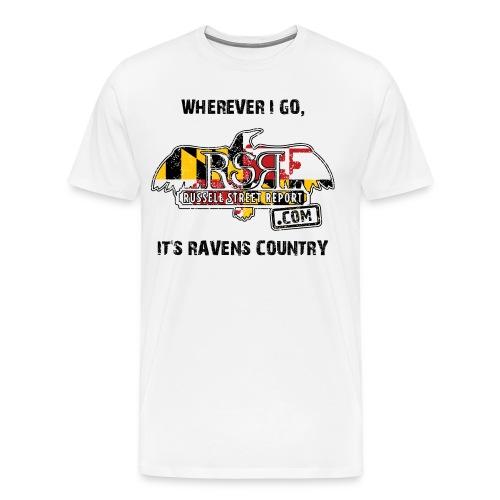rsr logo ravens country BLK TEXT png - Men's Premium T-Shirt