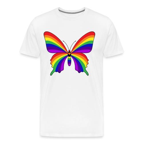 Rainbow Butterfly - Men's Premium T-Shirt
