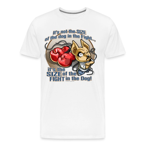 Dog in fight by RollinLow - Men's Premium T-Shirt
