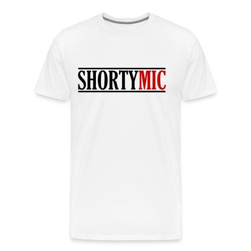 Shorty Mic - Logo - Black & Red - Men's Premium T-Shirt