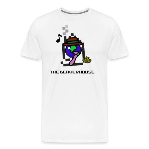 BeaverhouseLogo8BitShirt png - Men's Premium T-Shirt