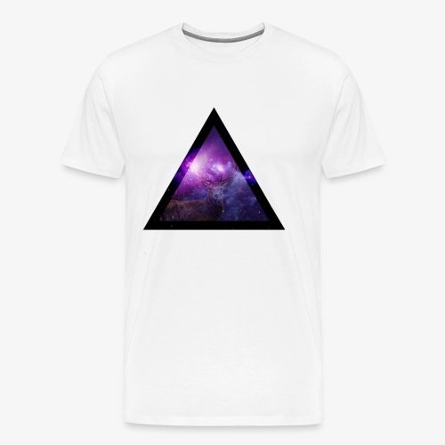 Galaxy with Deer - Men's Premium T-Shirt