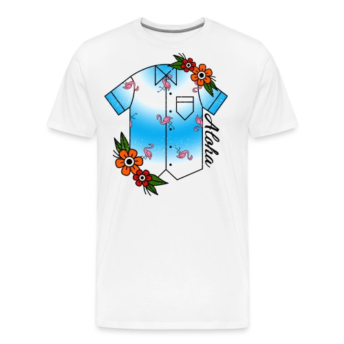 Aloha Hawaiian Shirt - Men's Premium T-Shirt
