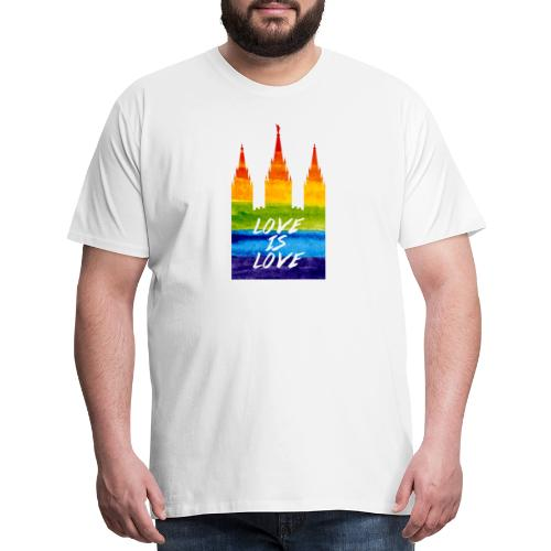 Mormon gay temple love is love - Men's Premium T-Shirt