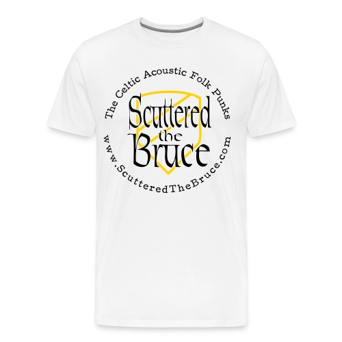 logo black type recolored sheild outline - Men's Premium T-Shirt