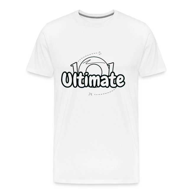 Ultimate Frisbee T-Shirt: Ultimate101 Logo - Light
