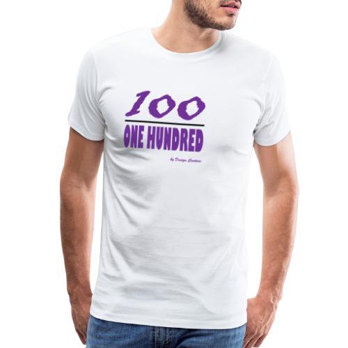 ONE HUNDRED PURPLE - Men's Premium T-Shirt