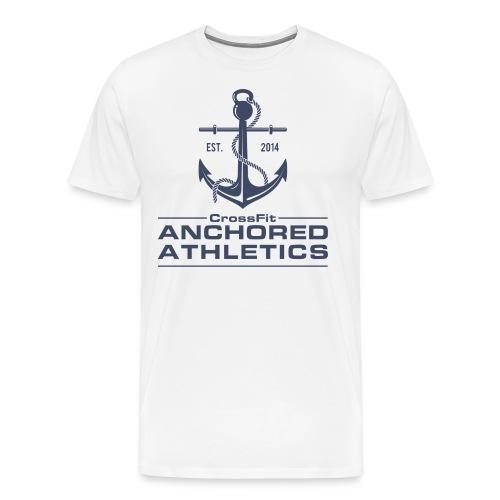 CrossFit Anchored Athletics Vertical Blue - Men's Premium T-Shirt