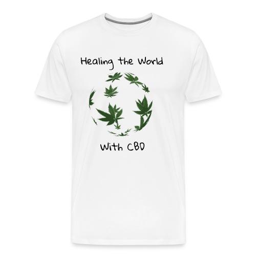 Healing the World with CBD - Men's Premium T-Shirt