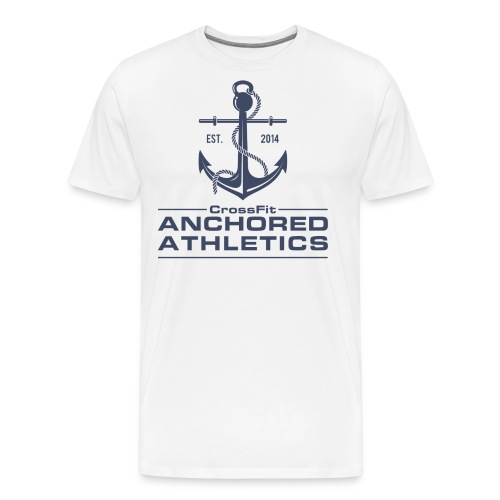 CrossFit Anchored Athletics Vertical Blue - Men's Premium T-Shirt